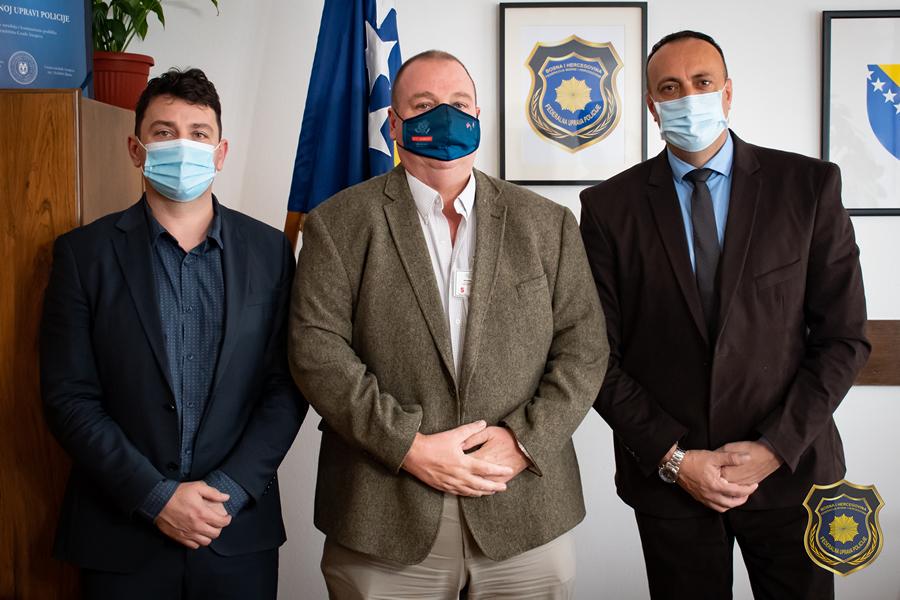 Radna posjeta Federalnoj upravi policije gospodina Larsona i direktora Kafedžića iz Ureda za borbu protiv korupcije i upravljanje kvalitetom Kantona Sarajevo